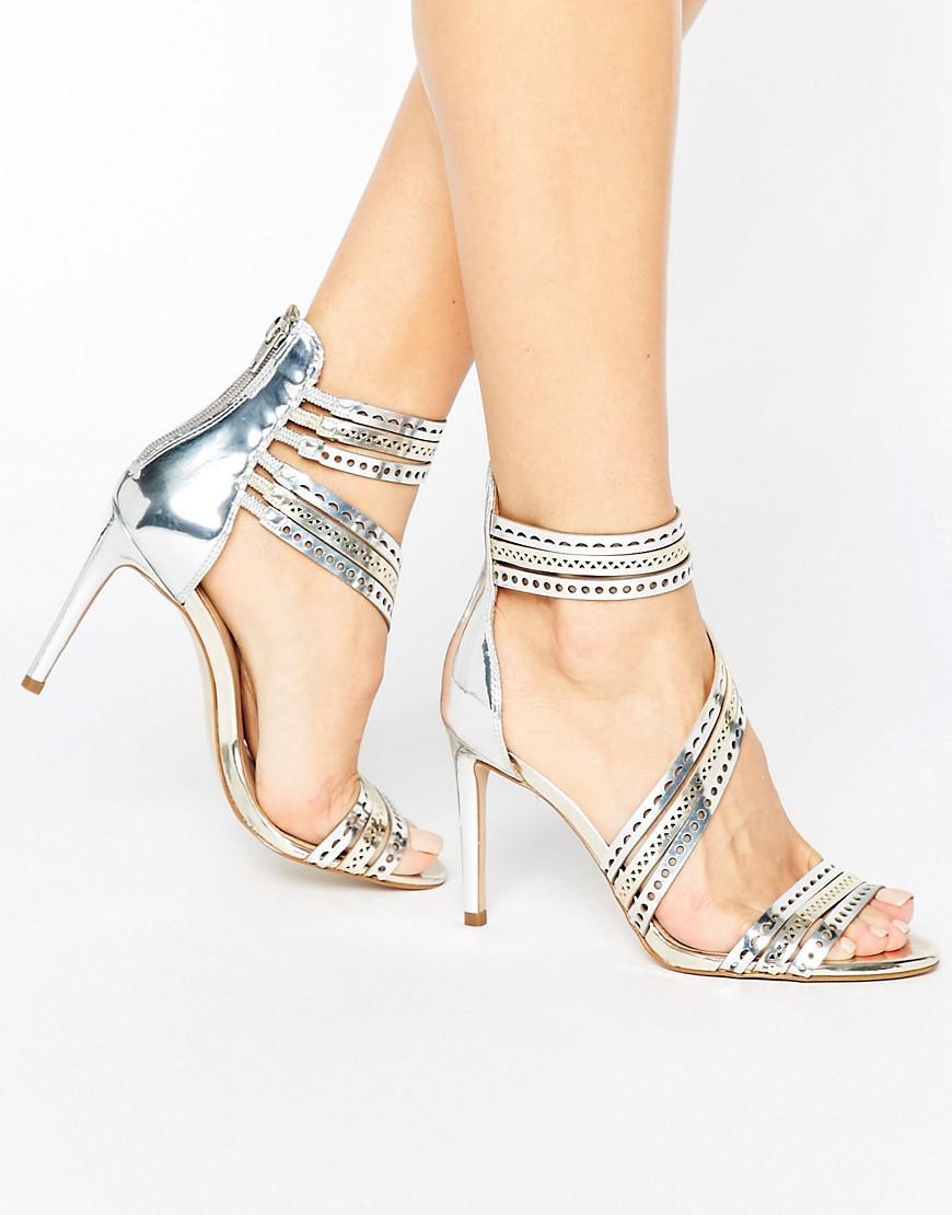 Give Gunmetal Metallic Heeled Sandals - Gunmetal synthetic Carvela z4L48