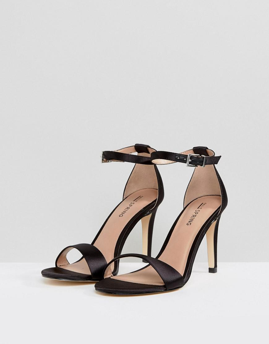 Call it Spring Ahlberg Satin Barely There Heeled Sandals jWrjCy