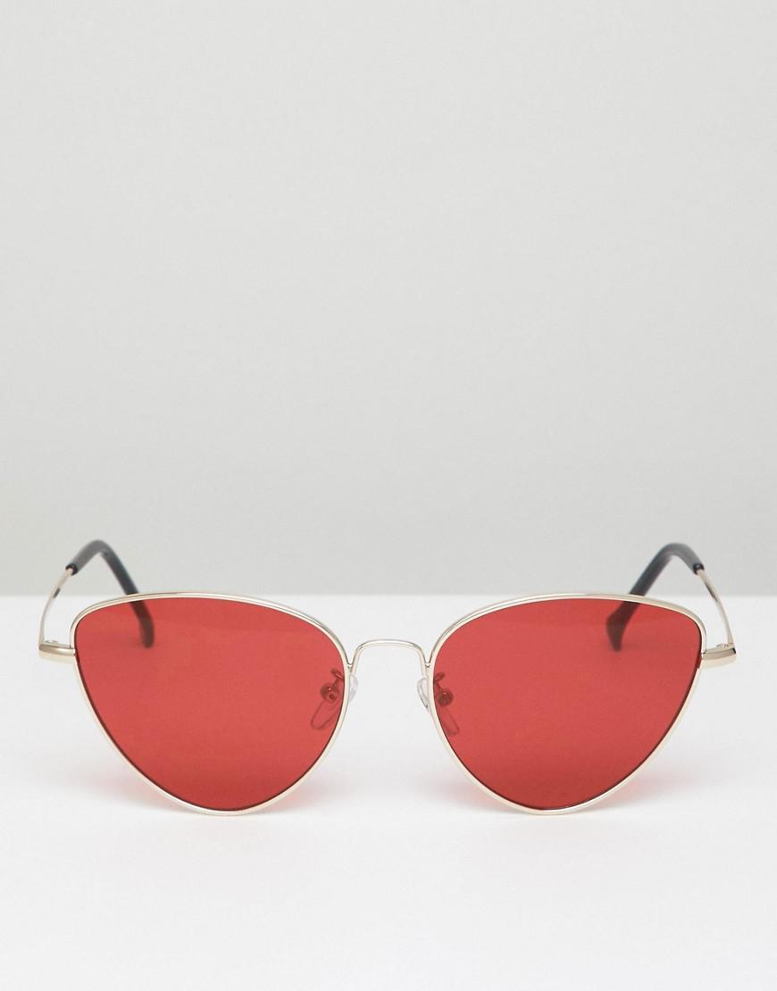 e44100cc36ab A.J. Morgan Metal Cat Eye Sunglasses In Gold/red in Metallic for Men - Lyst