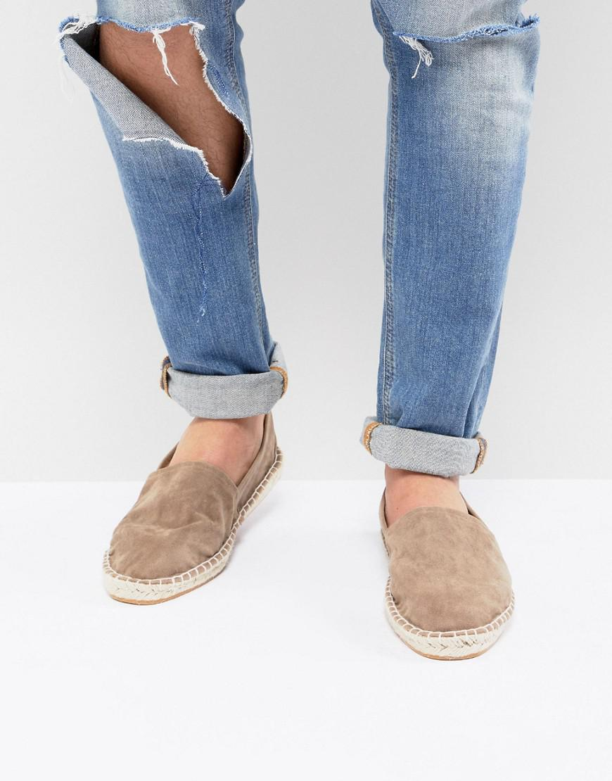 ASOS DESIGN Espadrilles In Pink Faux Suede With Back Pull 100% guaranteed for sale cheap 100% original aHmrwj