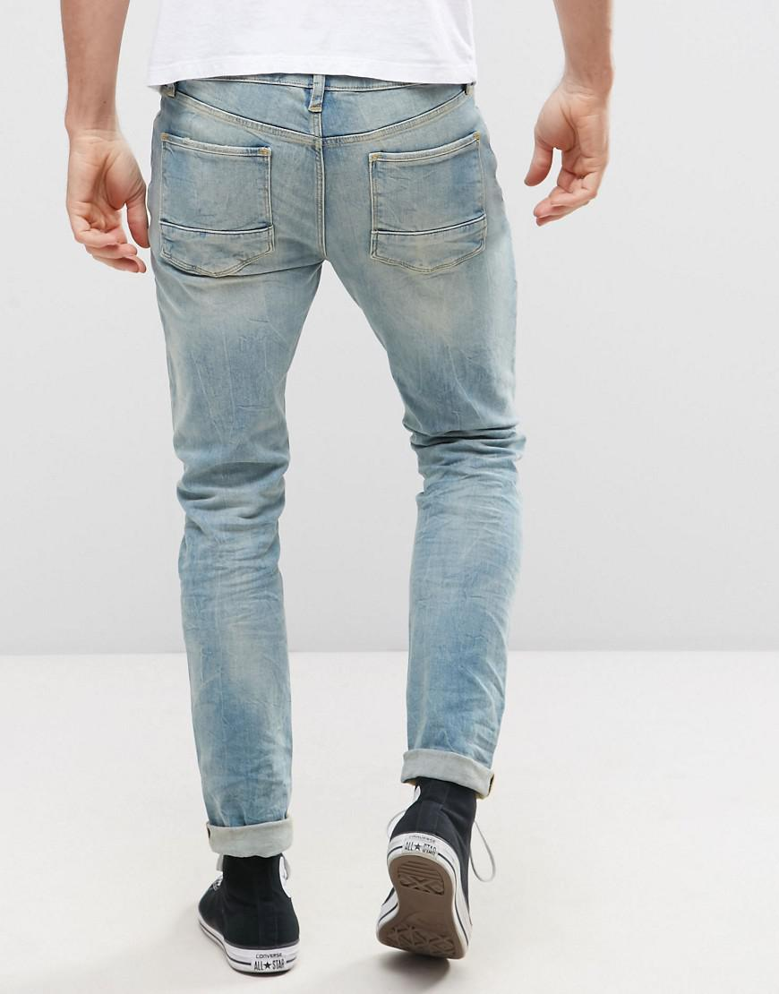 ASOS - Skinny Jeans In 12.5oz Bleach Wash Blue for Men - Lyst. View  fullscreen