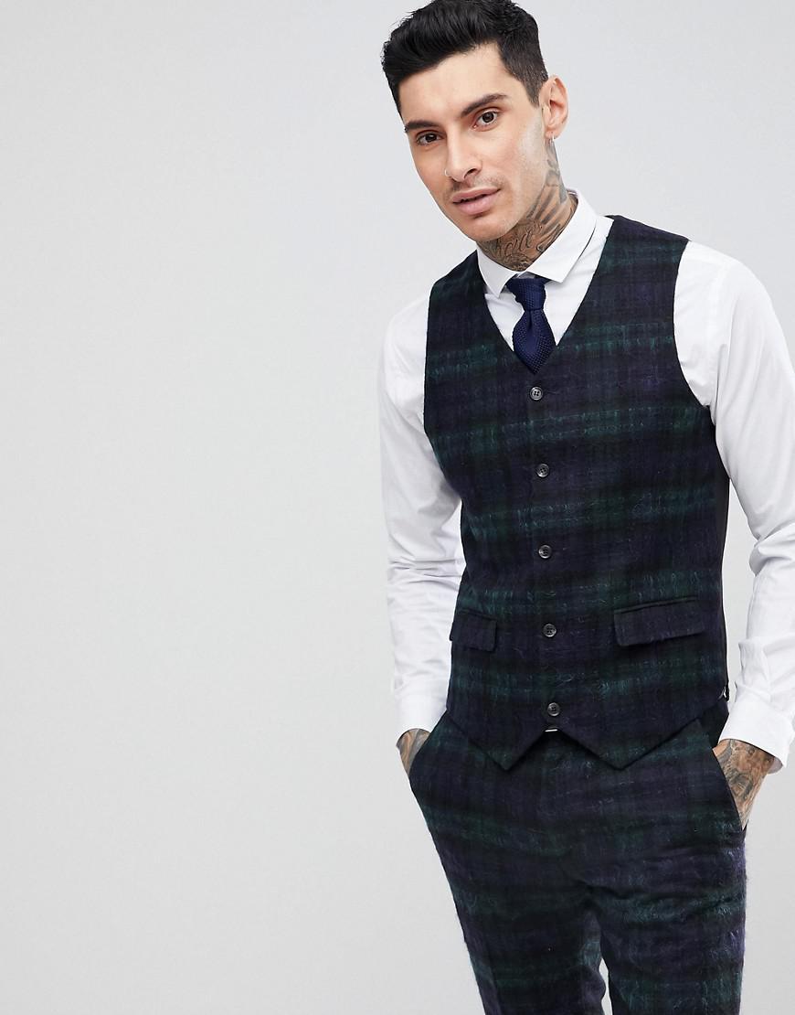 ASOS. Veston de costume slim avec mohair en tissu cossais Lochcarron  Blackwatch homme de coloris vert 138587ada00