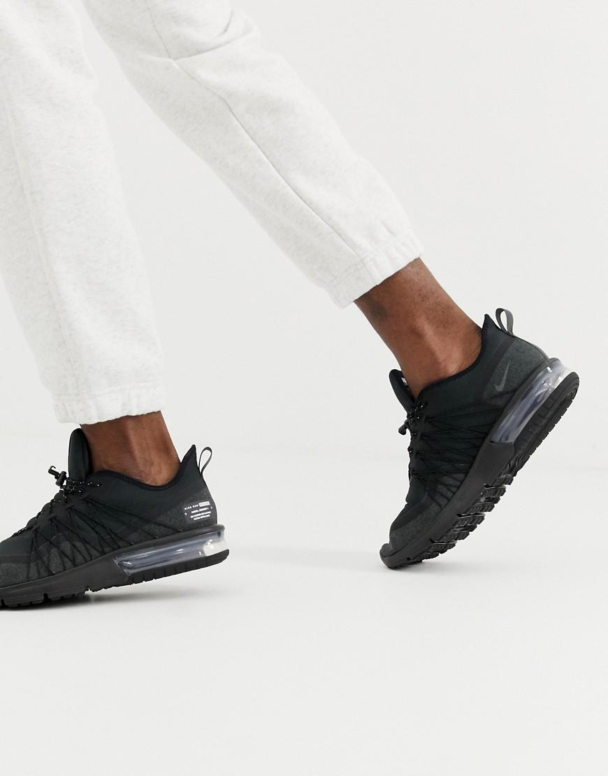 on sale 53bd3 d7304 Nike. Men s Air Max Sequent 4 Utility Trainers In Black Av3236-002