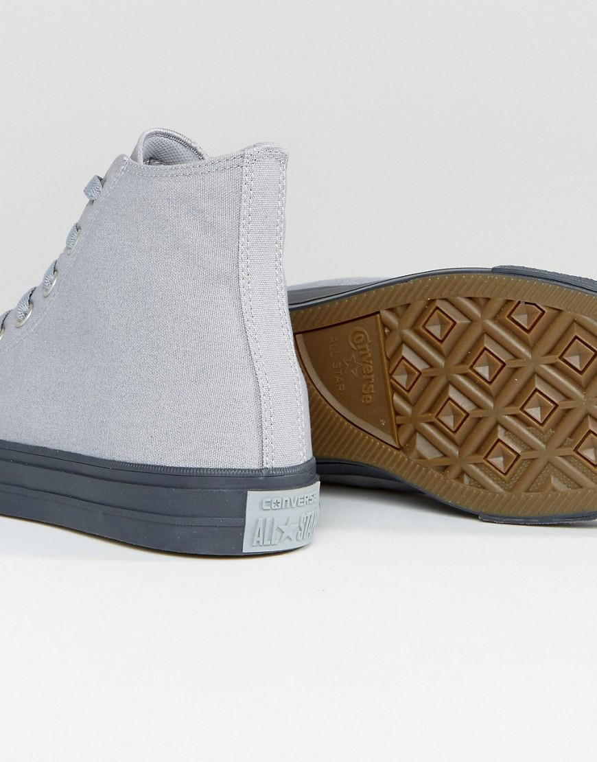a7f9ff391e59 Lyst - Converse Chuck Taylor All Star Ii Hi Sneakers In Gray 155702c ...