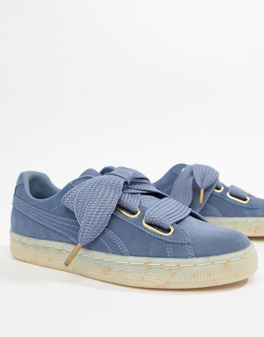 Lyst - PUMA Suede Basket Heart Sneakers In Blue in Blue d60581081