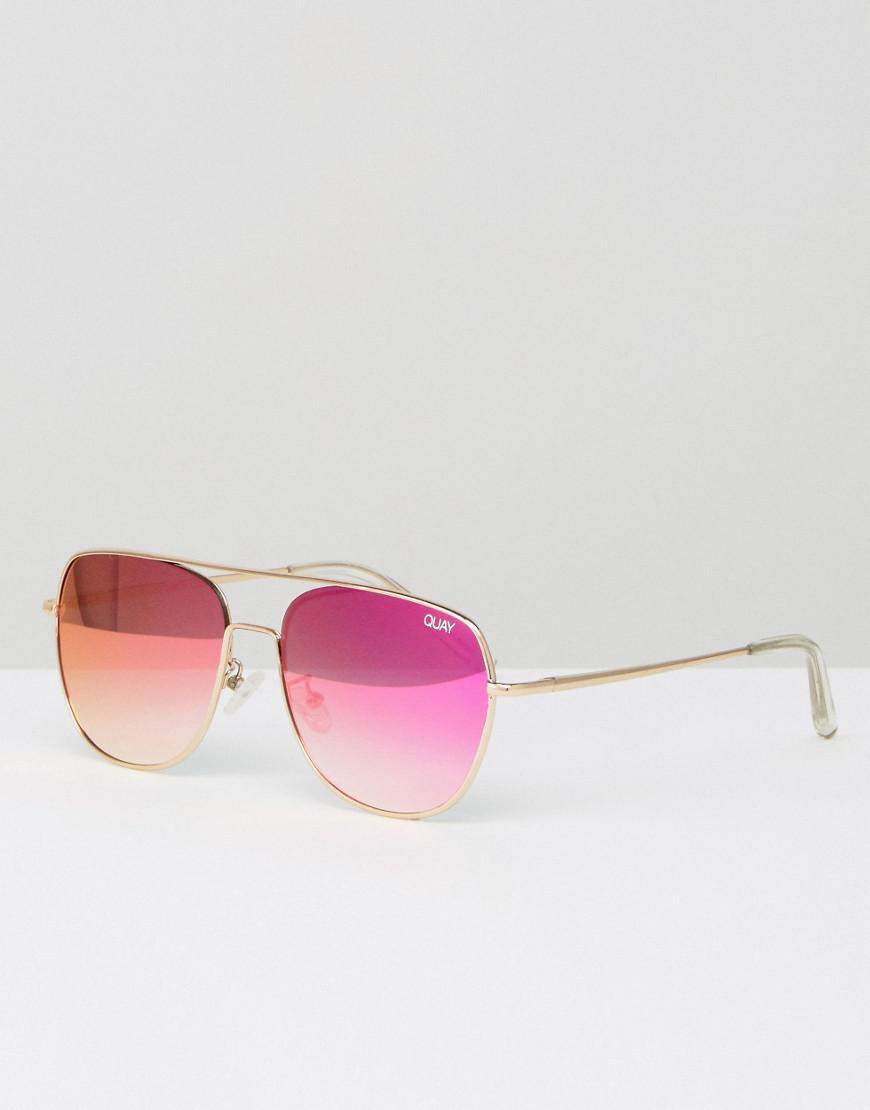 2f8c22c82d98f Quay Running Riot Aviator Sunglasses in Metallic for Men - Lyst