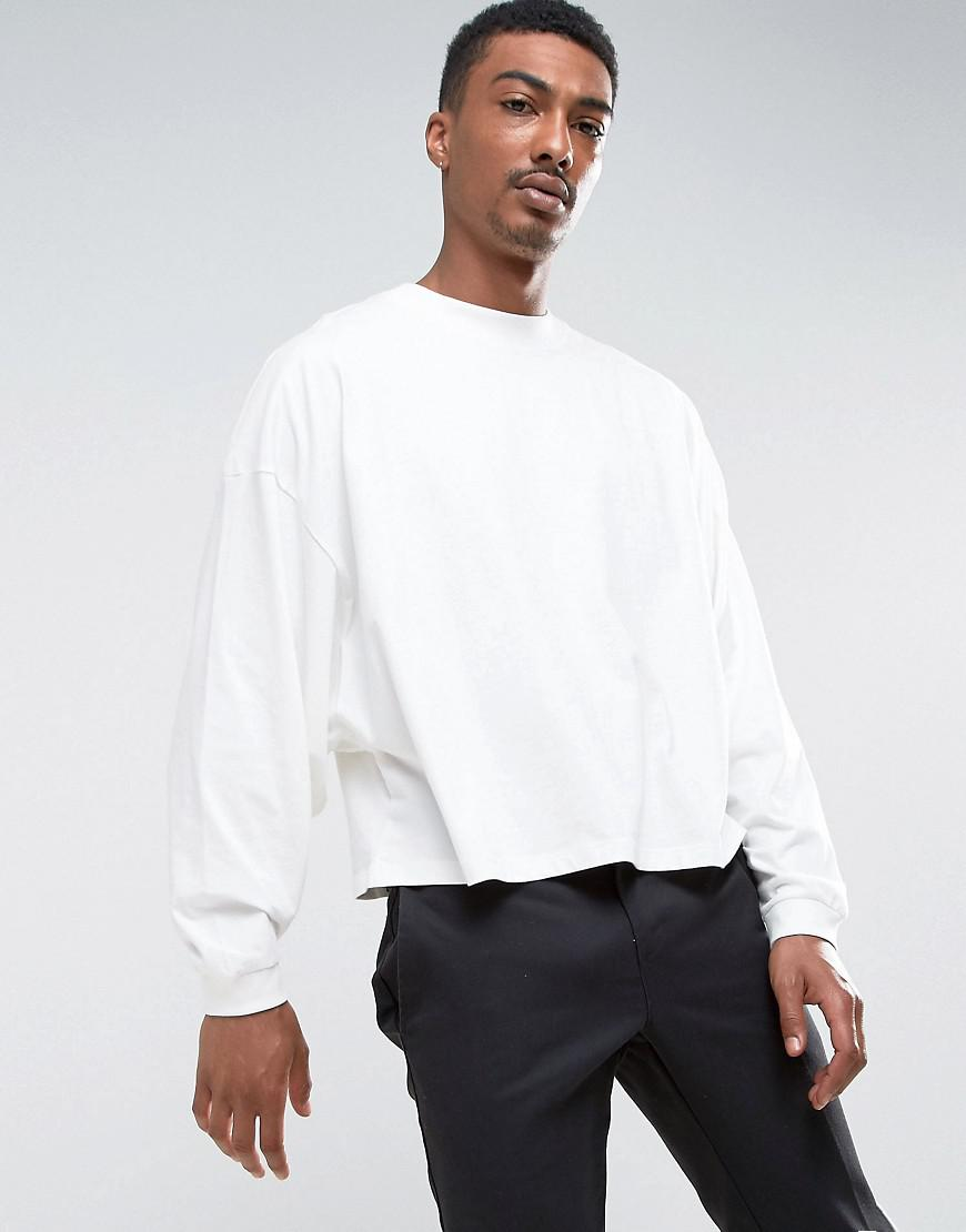 5cf477e9 ASOS Asos Long Sleeve T-shirt With Extreme Batwing In Cropped Length ...