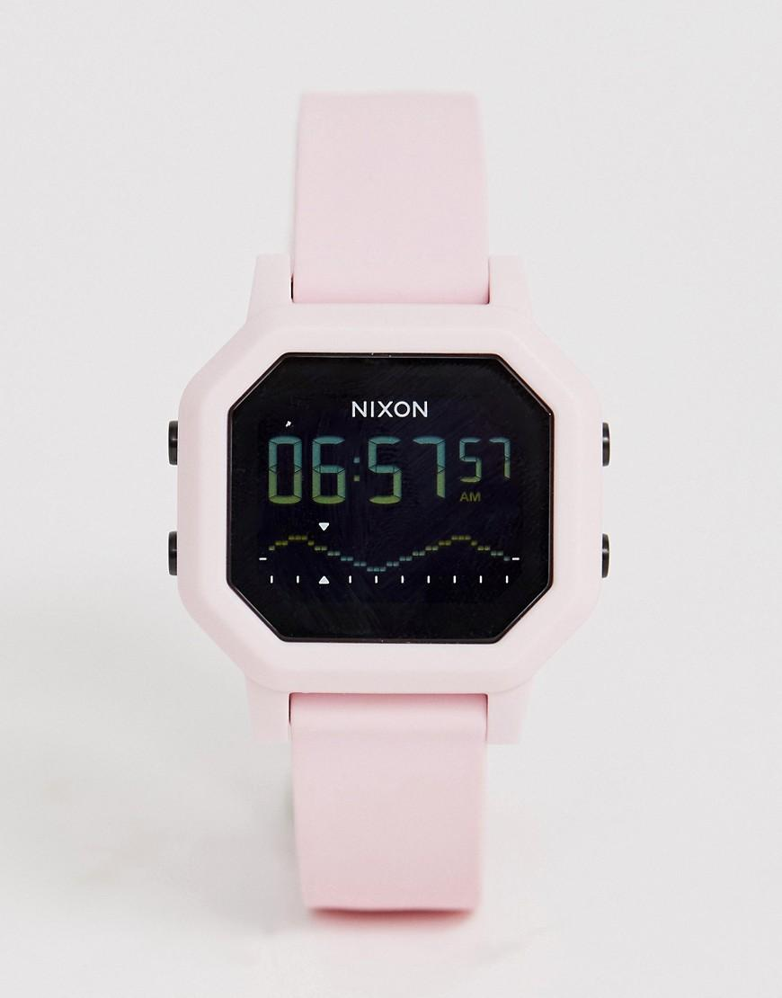 55d2e9f8d89 Nixon A1210 Siren Silicone Watch In Pink in Pink for Men - Lyst