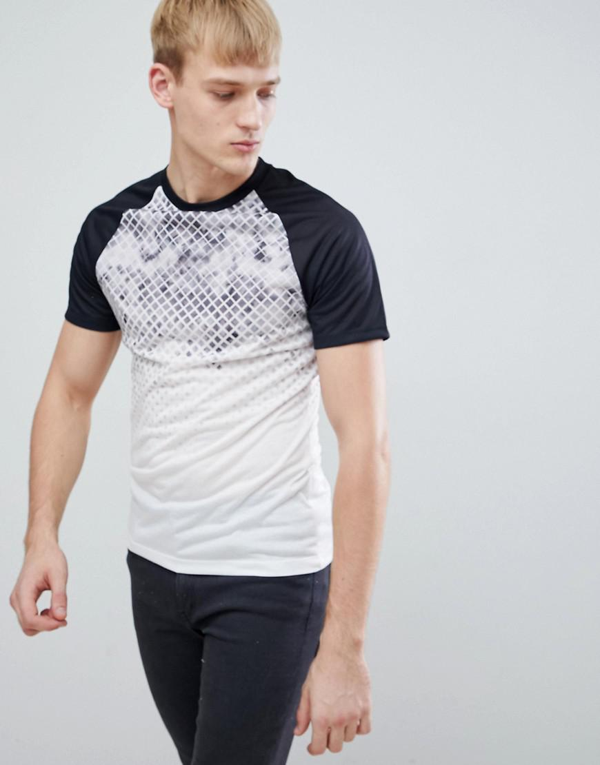 T-Shirt With Geo Fade In Black - Black New Look Discount Cheapest LWbfLF7