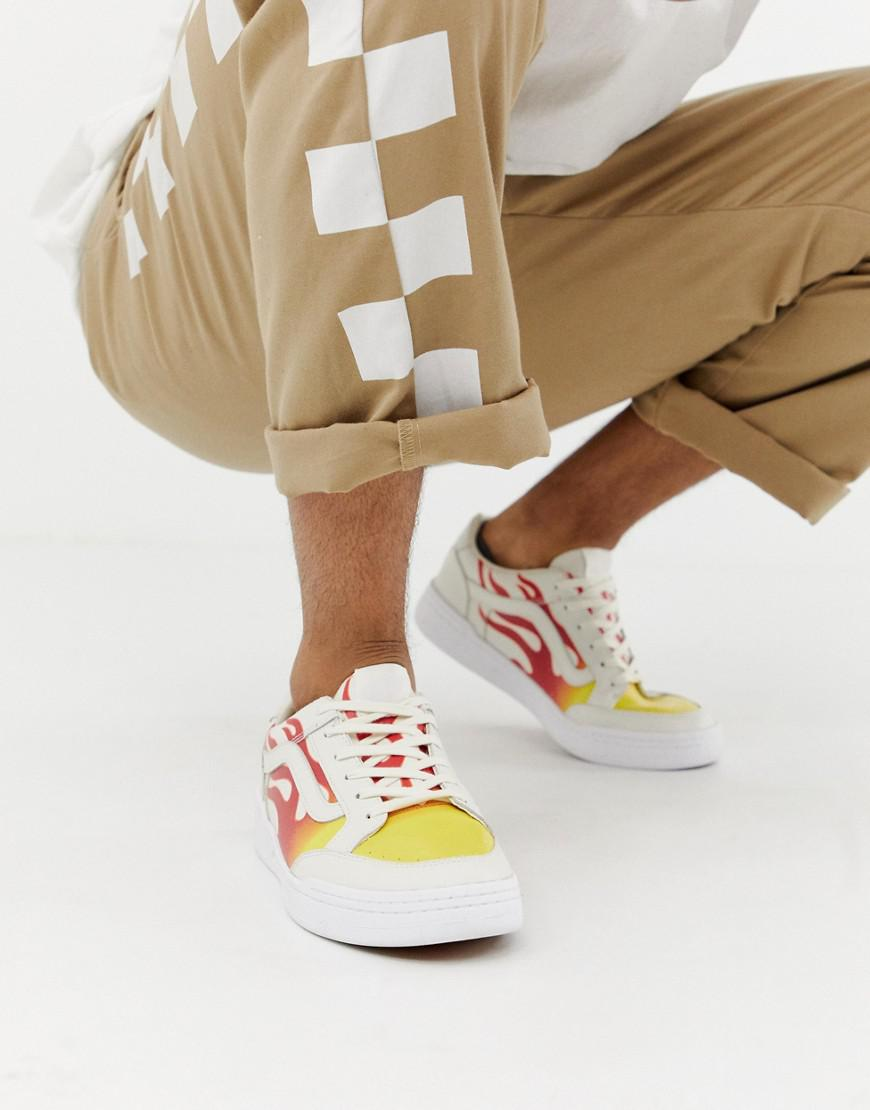 7d3ed16de77 Vans Highland Flame Trainers In White Vn0a38fduml1 in White for Men - Lyst