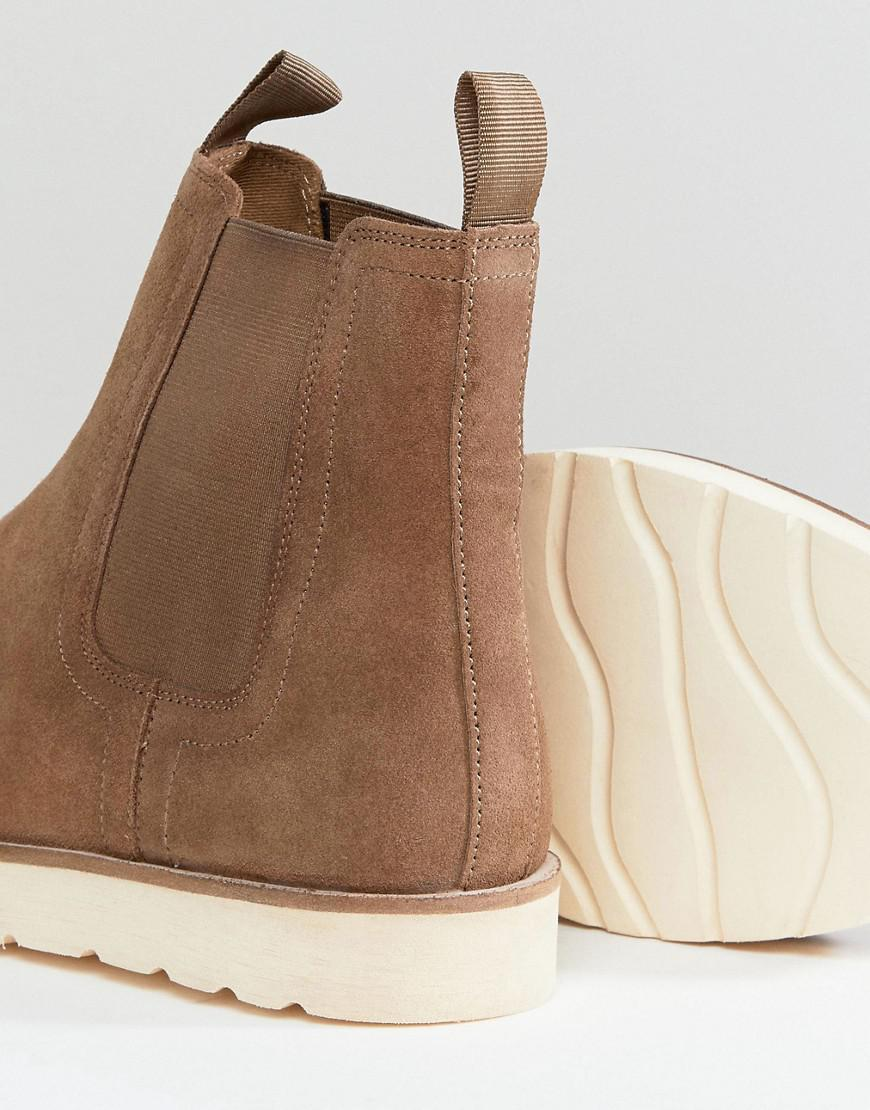 Suede Boot With Contrast Chunky Sole In Tan - Tan Stradivarius MvLcucz