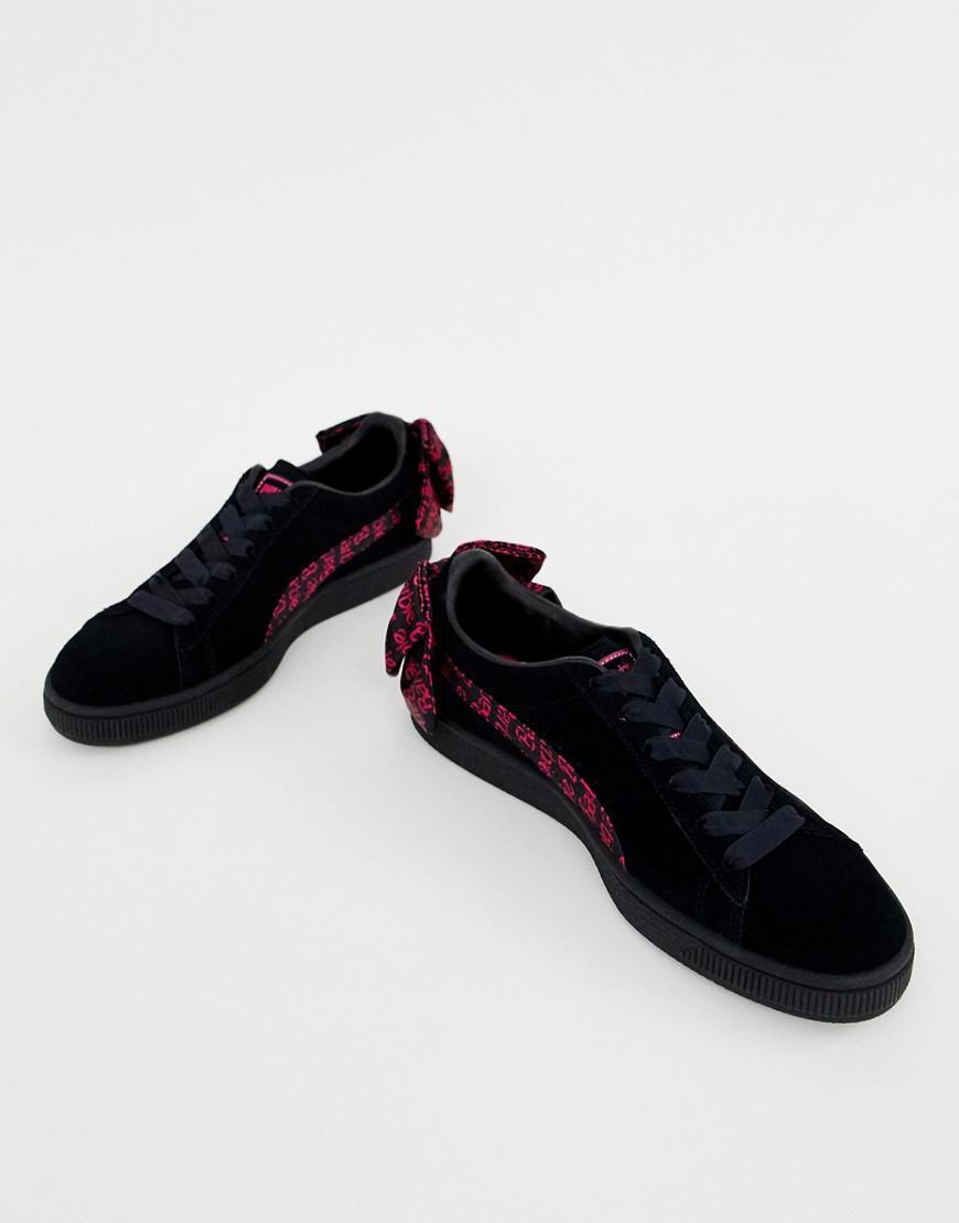 26ac641c743921 Puma Suede X Barbie Black Trainers in Black - Lyst