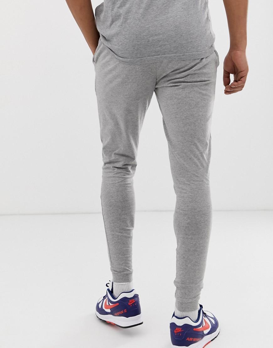 ba82d75f ASOS Lightweight Skinny Sweatpants 2 Pack Black/gray Marl in Gray ...