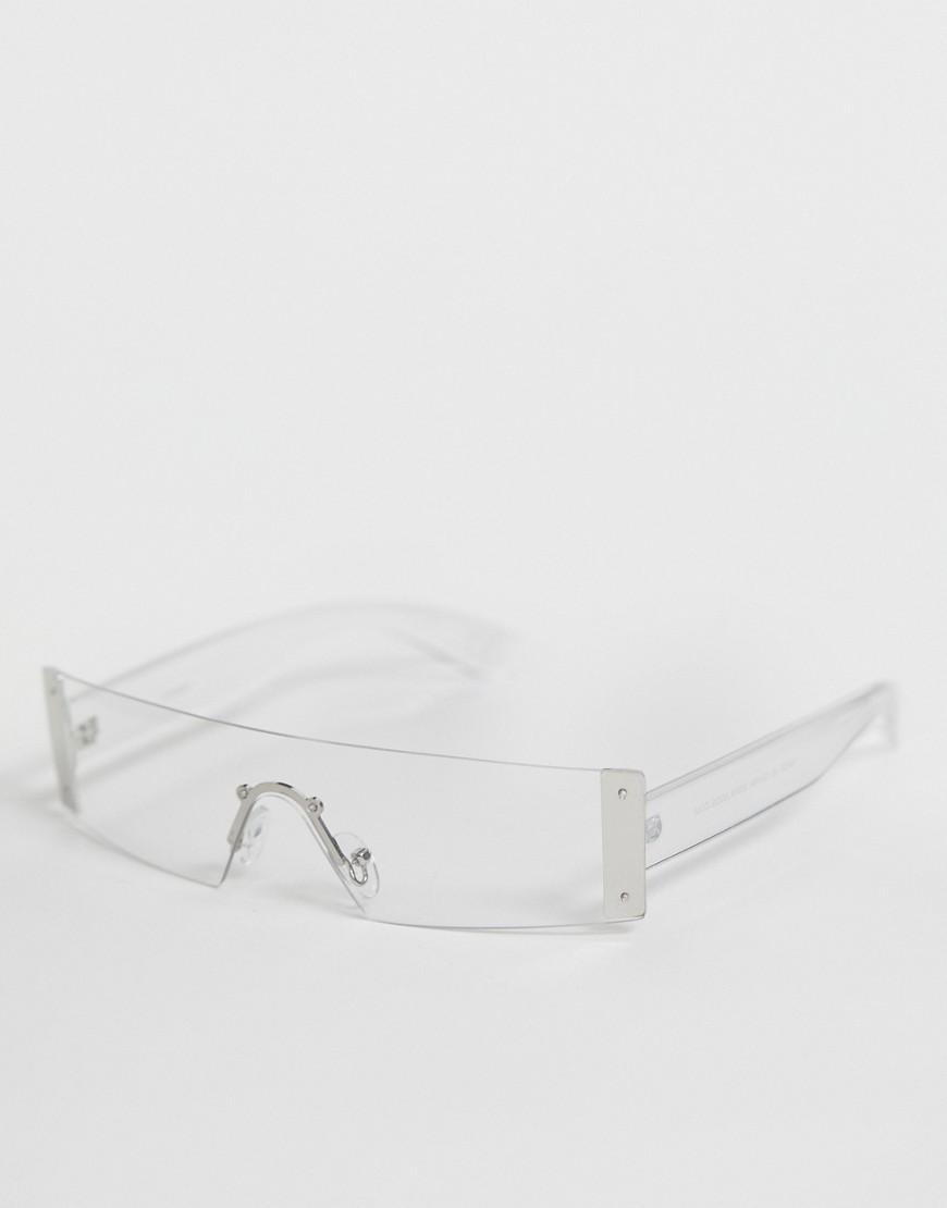 792aea0339ee9 Lyst - ASOS Rimless Visor With Clear Lens And Metal Detail in ...