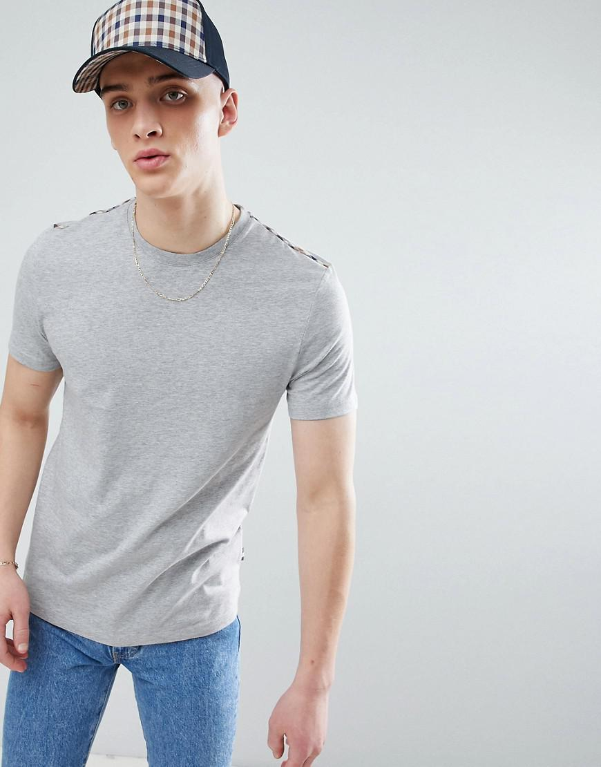 Buy Cheap Original Southport Check Shoulder T-Shirt In Grey - Grey Aquascutum Outlet Perfect Nice L8rlZuCYa