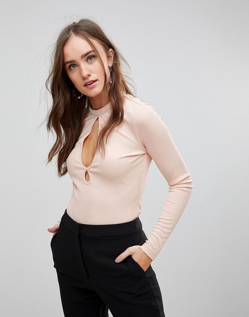 45fb670717abe Finders Keepers. Women s Huntr Keyhole Long Sleeved Top