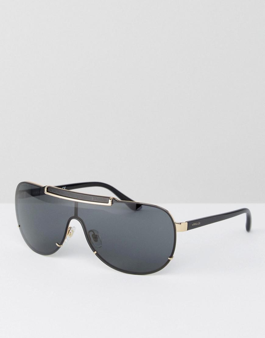 ae659caabb4d Lyst - Versace Aviator Sunglasses in Black for Men