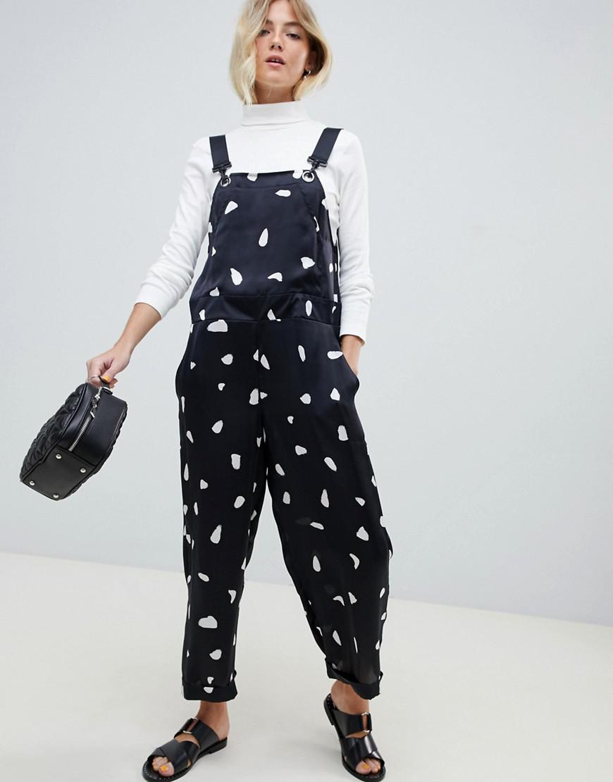 930df05b543f Asos Dungaree In Spot in Blue - Lyst