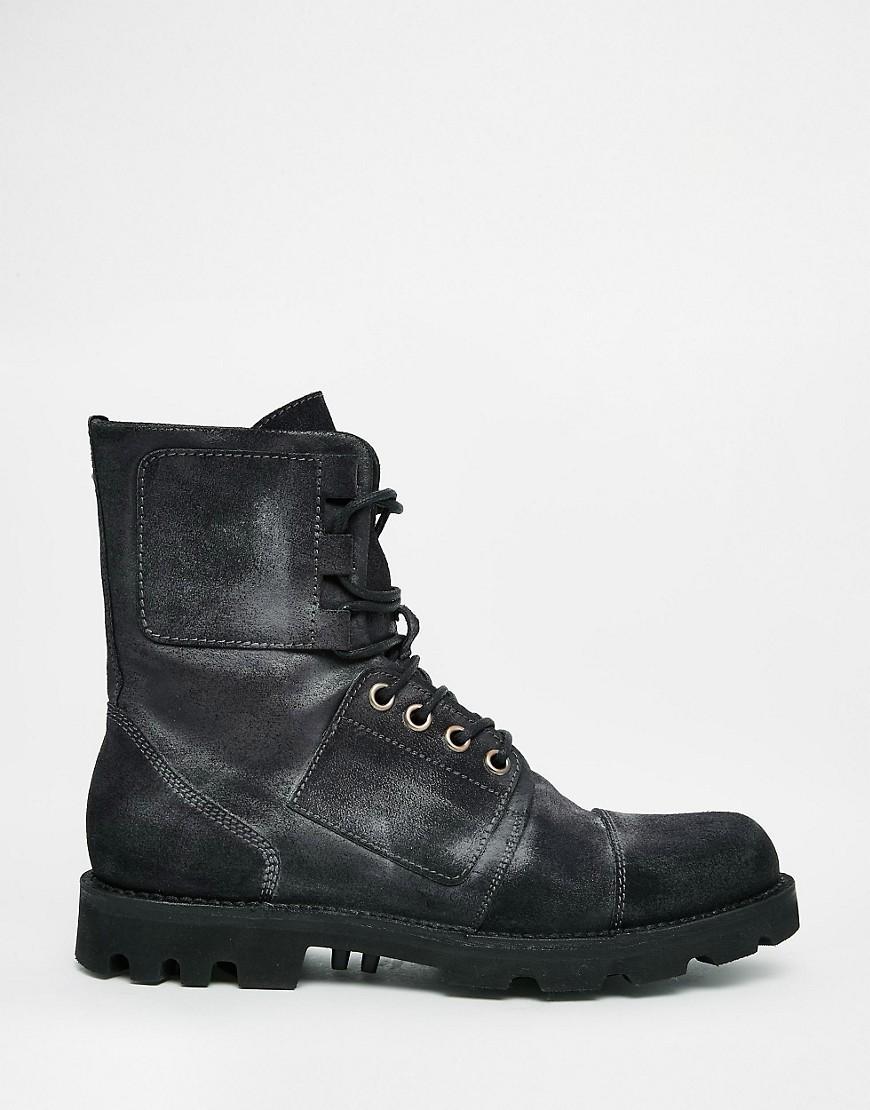 Lyst - Diesel D-hartt Boots in Black for Men