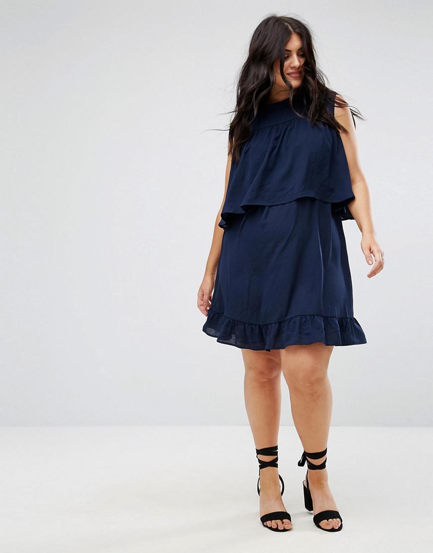 5ec2429448 Madam Rage Frilled Layer Dress in Blue - Lyst