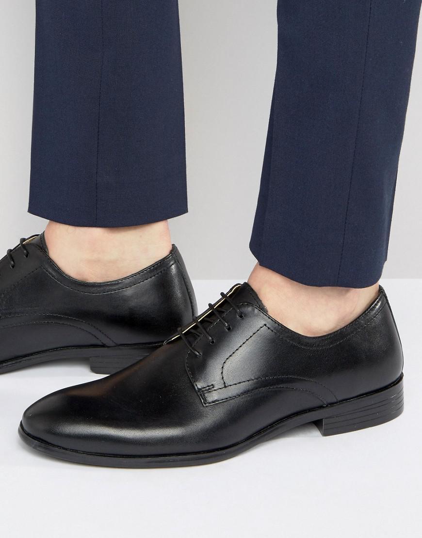 Side Tie Smart Shoes - Black Redtape mRG2r
