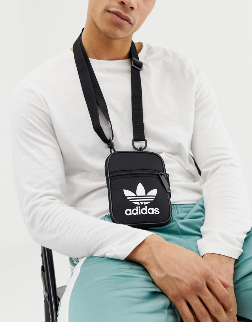 f02c1d1b32f5 adidas Originals Flight Bag In Black in Black for Men - Lyst