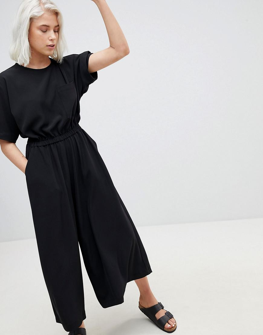 9d041daf183f Weekday Pocket Front Jumpsuit in Black - Lyst