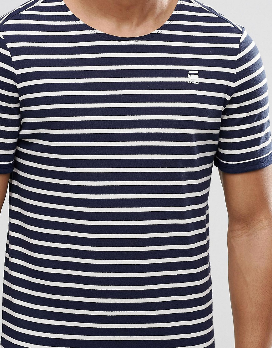 1e7c23093a G-Star RAW Prebase Breton Stripe T-shirt in Black for Men - Lyst