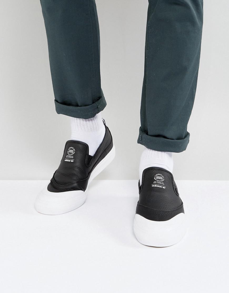 brand new de8df 4db6a adidas Originals Matchcourt Slip-on Sneakers In Black Cg4512