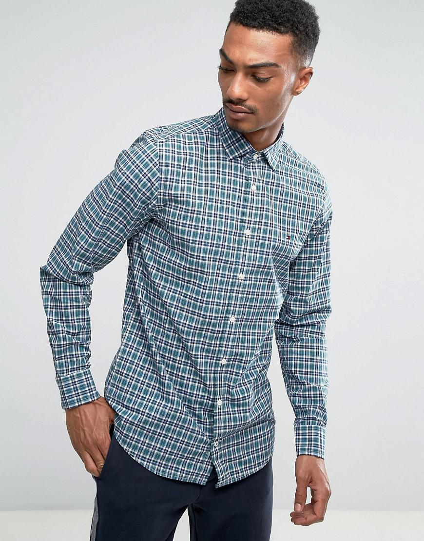 e356d73ee Tommy Hilfiger Finny Check Shirt Slim Fit In Blue in Blue for Men - Lyst