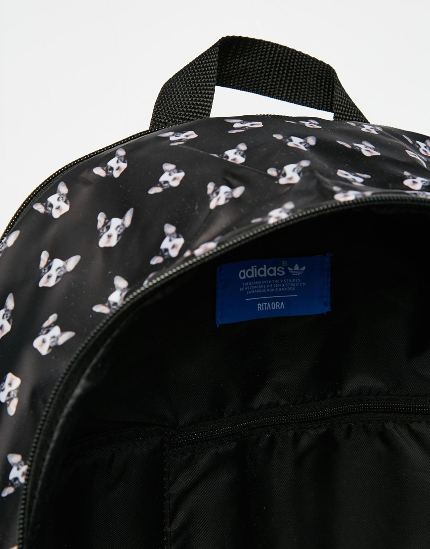 bbf66a8e80 Lyst - adidas Originals Originals Rita Ora Puppy Print Backpack in Black