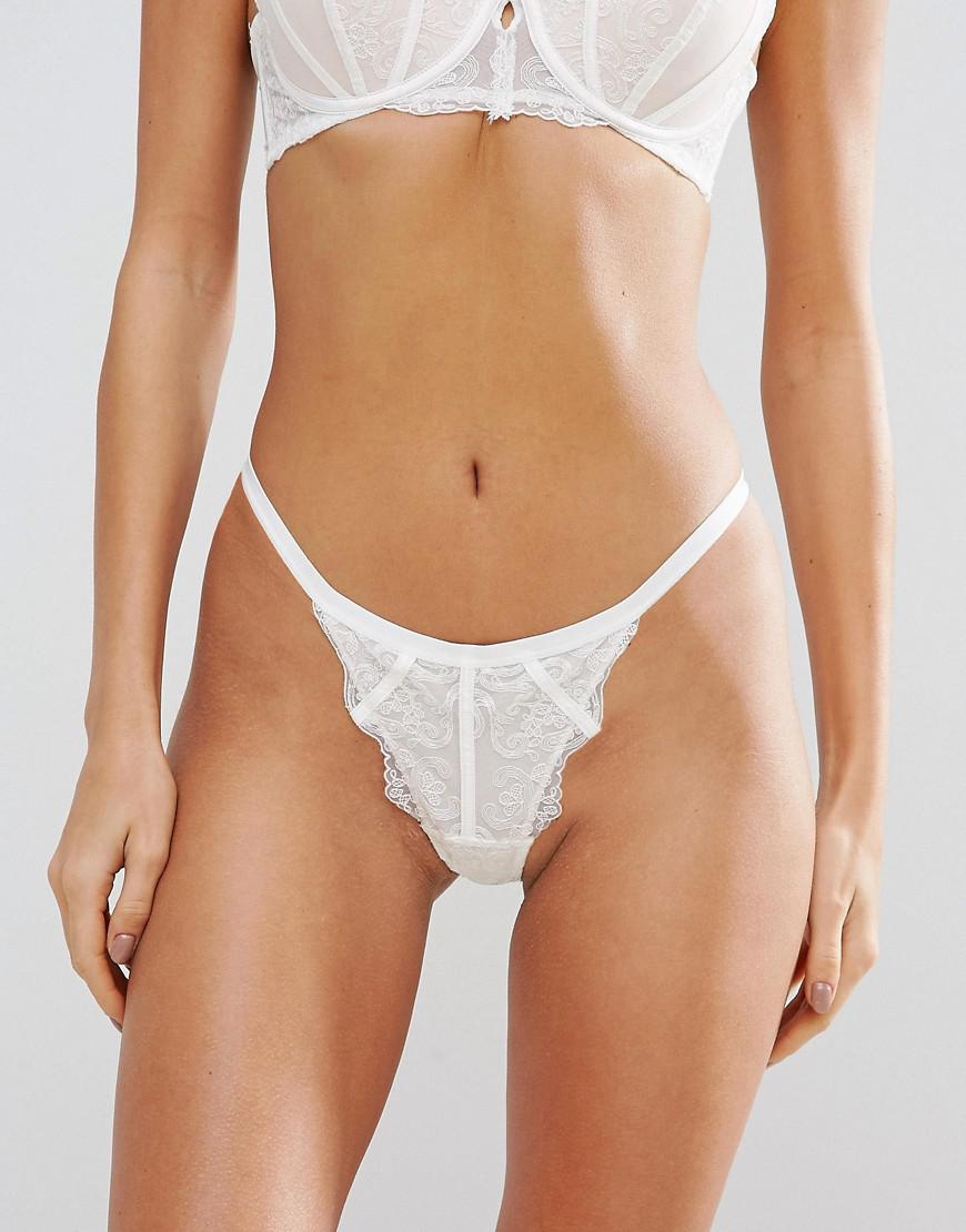 efc05ad54563 Ann Summers Penny White Thong in White - Lyst