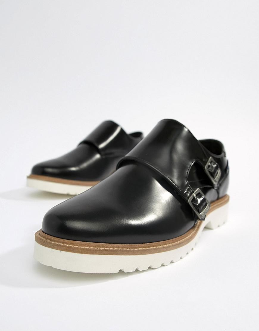 Ben Sherman Monk Shoes In High Shine TQHuEYoNM
