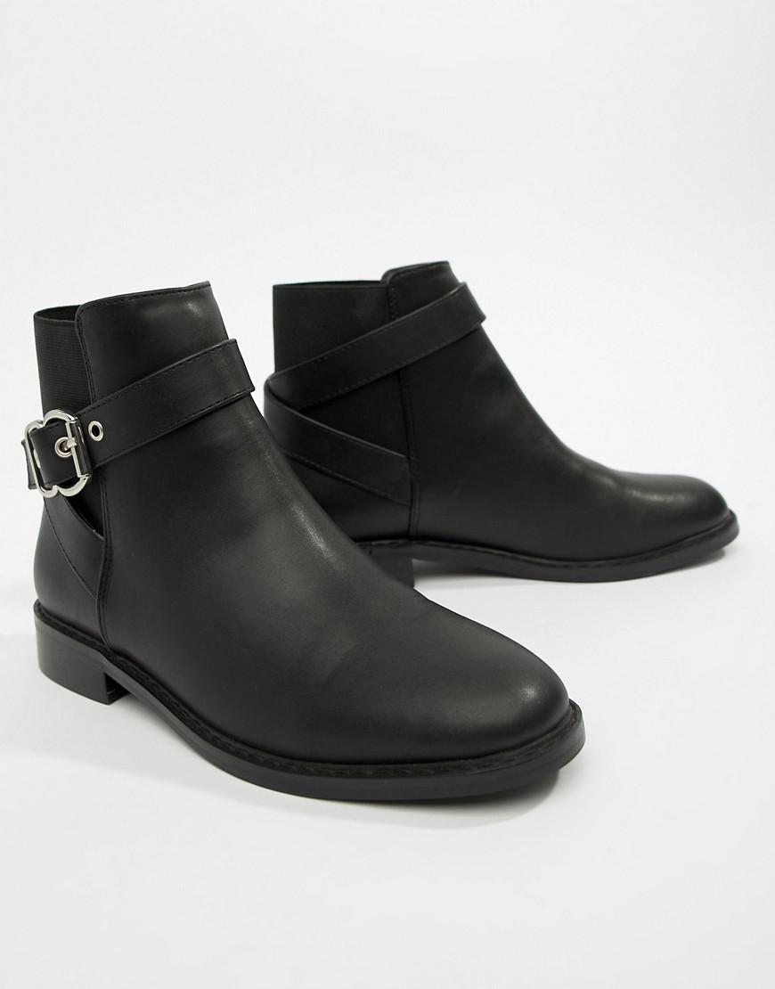 5b5d05b2764 Lyst - ASOS Abena Buckle Ankle Boots in Black