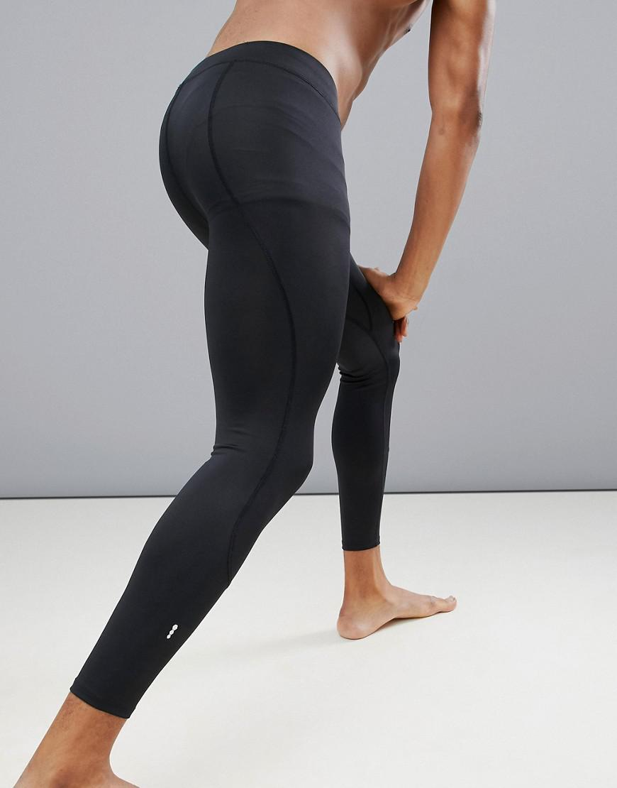 c1634151f5 Lyst - New Look Sport Running Tights In Black in Black for Men