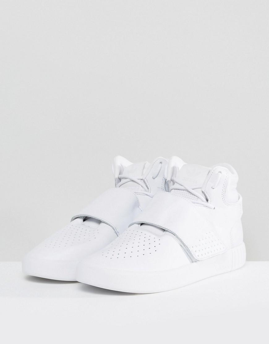 sports shoes 681fe 04079 adidas Originals Tubular Invader Strap Unisex Trainers In White in White  for Men - Lyst