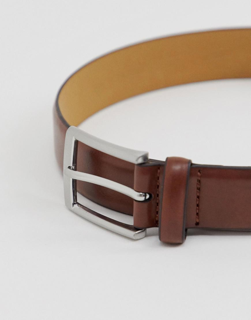 b0be4793e4d7 Lyst - Moss Bros Moss London Faux Leather Coated Belt In Brown in Brown for  Men