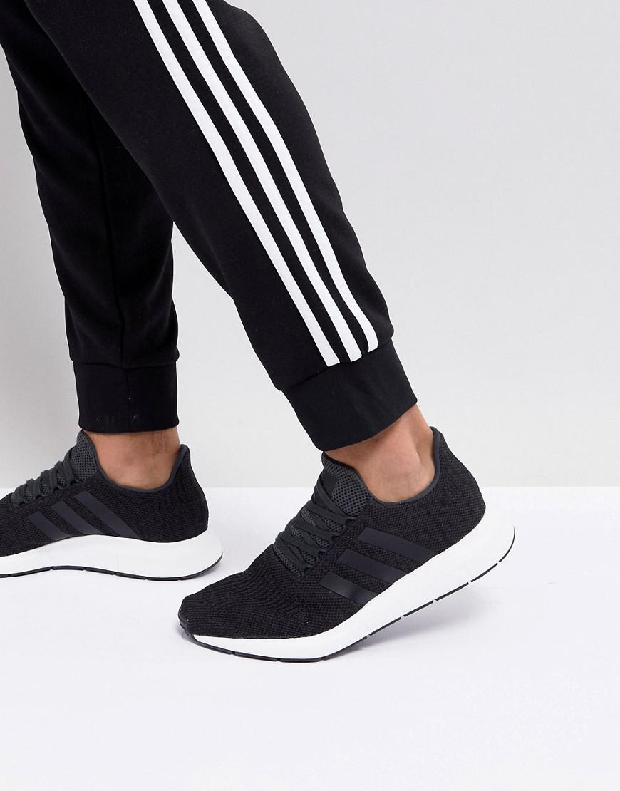 66dde335c1708 Lyst - adidas Originals Swift Run Trainers In Black Cq2114 in Black ...