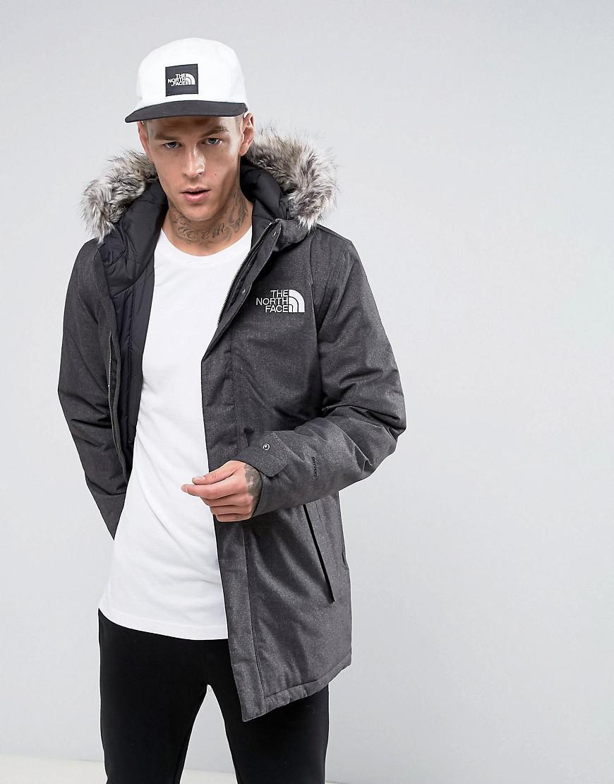 80cfa1e7f5 The North Face Zaneck Detachable Faux Fur Hood Jacket In Grey in ...