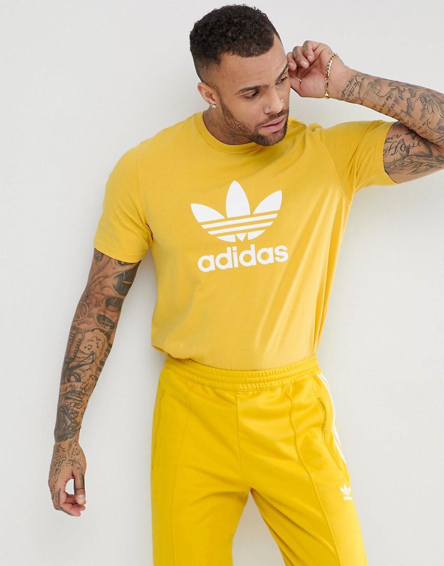 best loved 6c93f 5f3e0 adidas Originals Adicolor T-shirt With Trefoil Logo In Yello