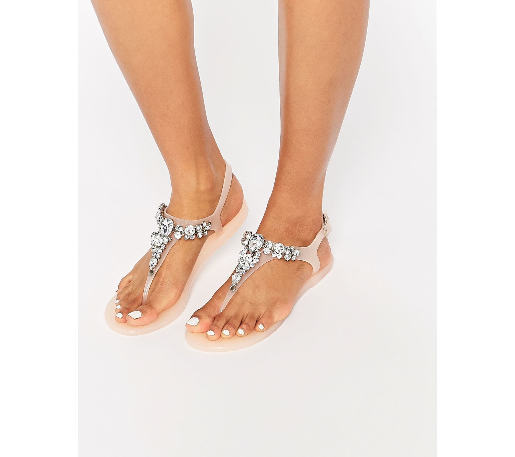 Lipsy Jelly Flat Sandal With Embellished Floral Detail factory outlet authentic sale online buy cheap best place Yl8nsEgOFY