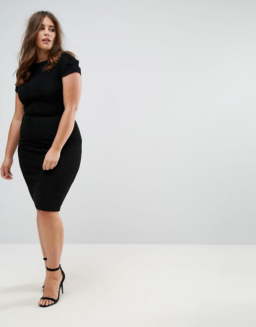 Clearance Cheapest Price Structured Plisse Pencil Dress - Black Closet Curves With Mastercard Cheap Online Wiki Online JQA6NQo