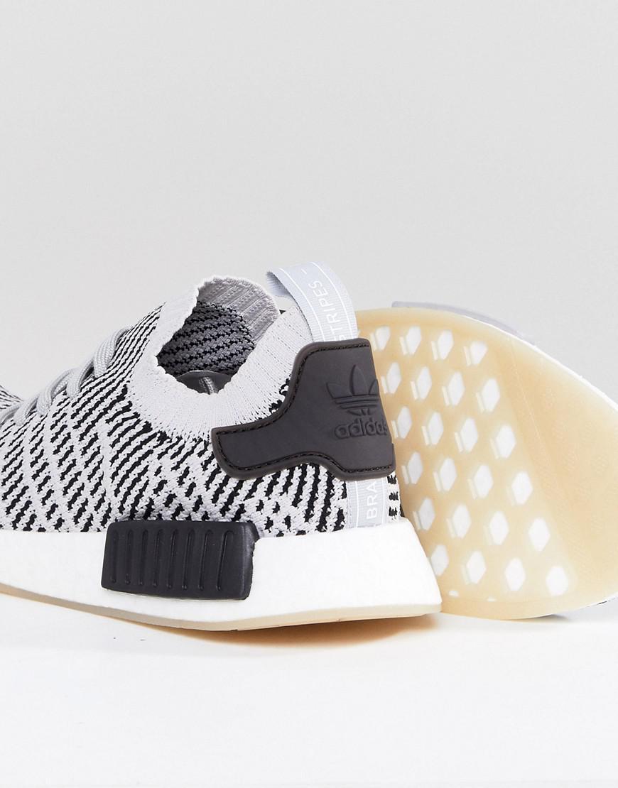 Adidas originali nmd r1 stlt scarpe in grigio cq2387 in grigio per gli uomini.