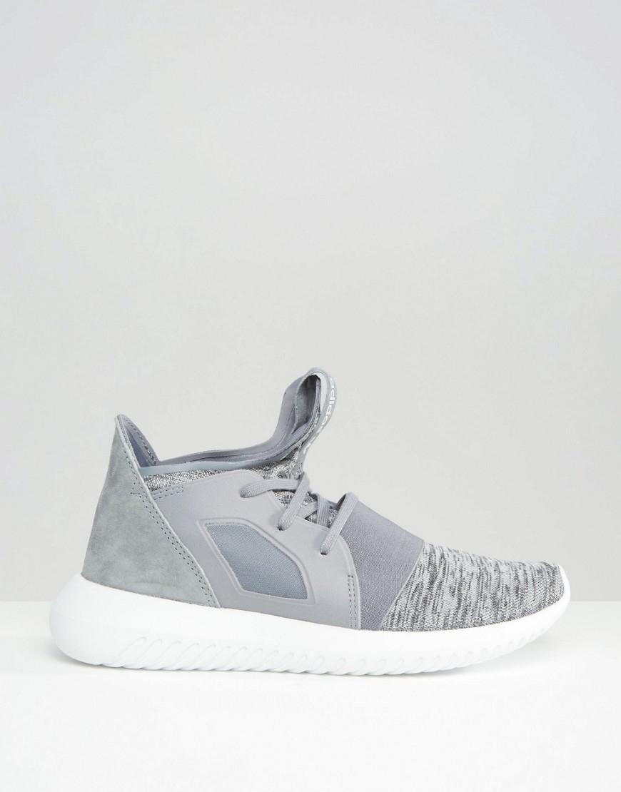 a9269e3a4 adidas Originals Grey Marl Tubular Defiant Sneakers in Gray - Lyst