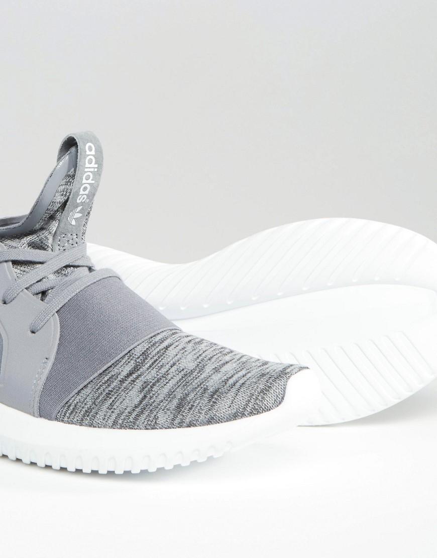 ... czech lyst adidas originals grey marl tubular defiant sneakers in gray  e5125 11325 50925ca312e1