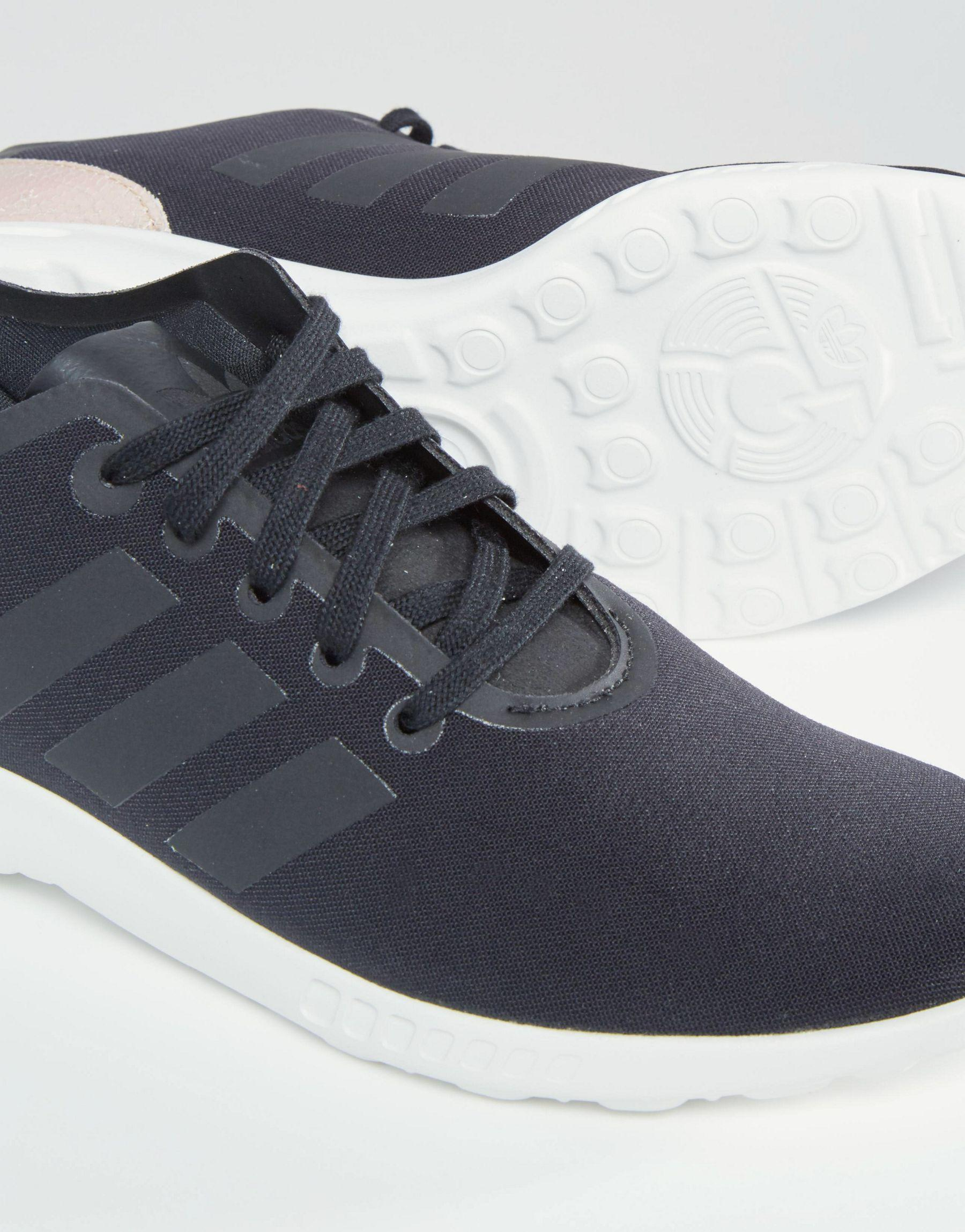 sports shoes 0fdd8 4be29 promo code for adidas originals zx flux sneakers black and ...