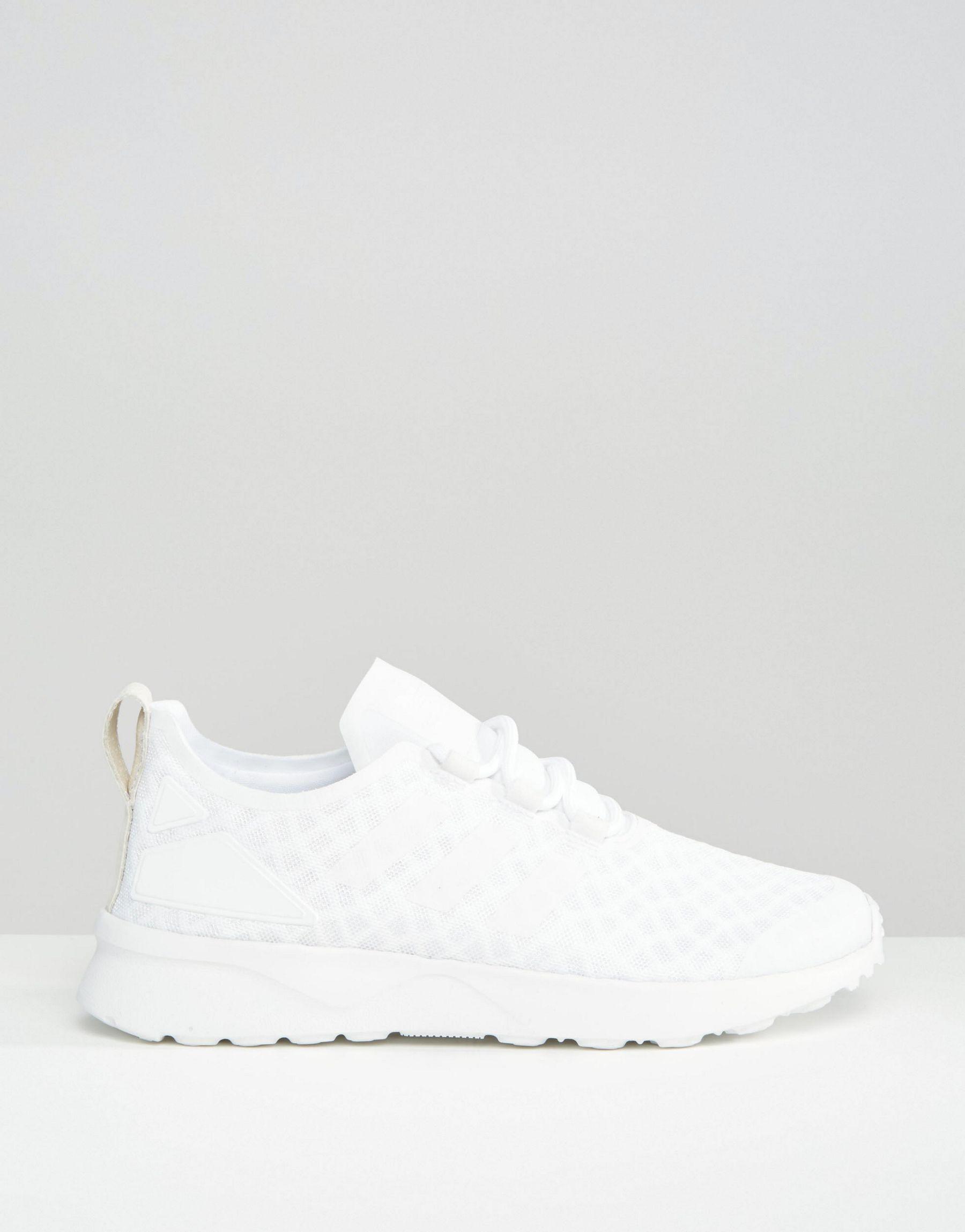 690838e218f07 ... cheap lyst adidas originals originals off white zx flux verve mesh  999ec 9e6e5