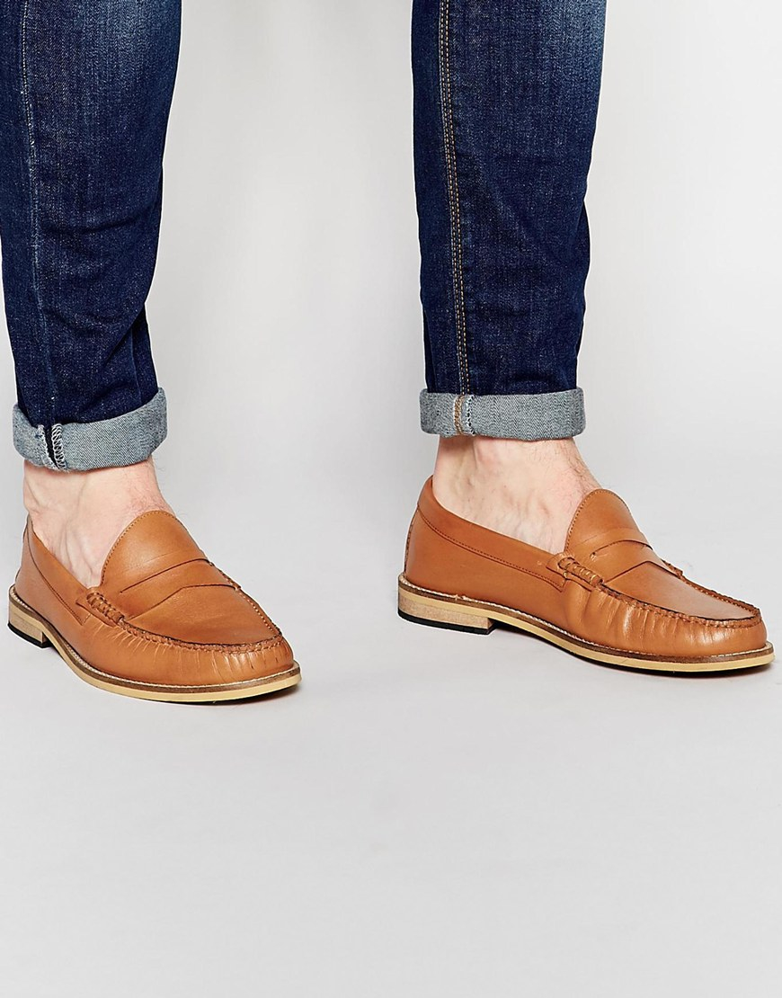Frank Wright Woven Penny Loafers In QTgMJ5KV