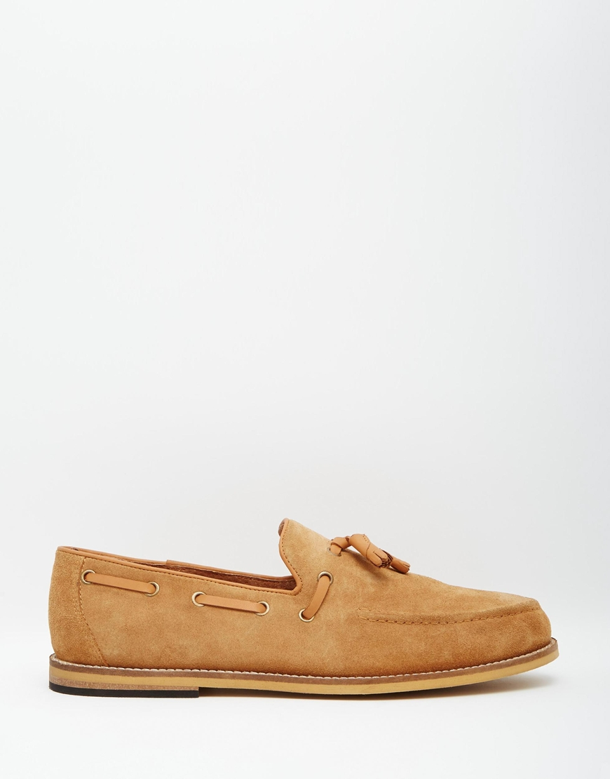 Frank Chaussures Bateau À Pompon Wright Tan - Tan 06Ha2X
