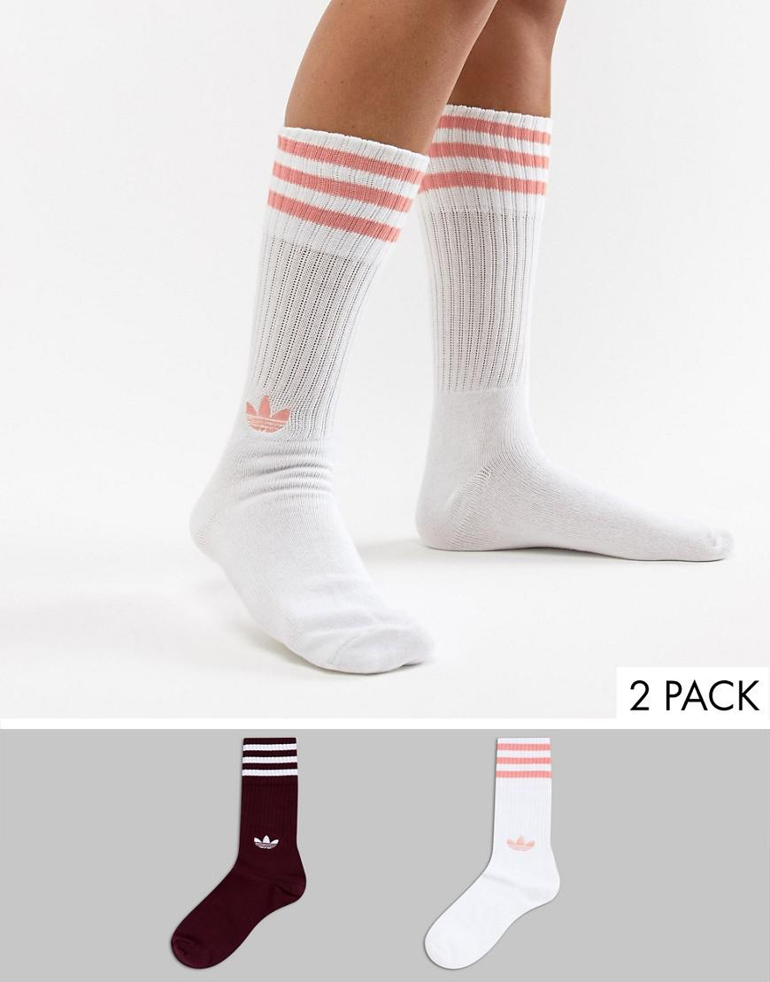 newest f1f26 46347 adidas Originals. Womens Red Crew Sock Pack ...